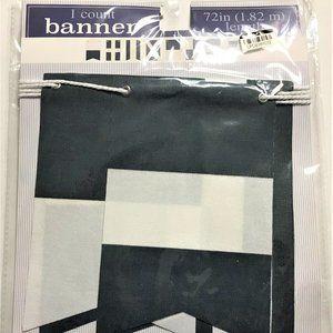 Nautical Blue & White Banner Flag 72 in.